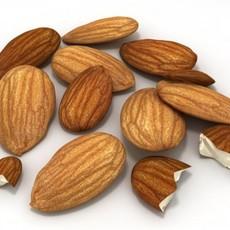 Almonds Unshelled 3D Model
