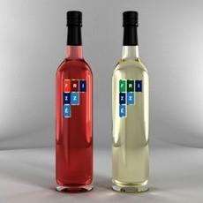 Bottles of Wine Frizze 3D Model