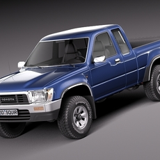 Toyota Hilux Pickup Extended cab 1989-1997 3D Model