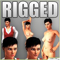 Natalie Nude or Clothed Rigged 3D Model