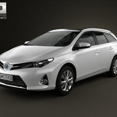 Toyota Auris Touring Hybrid 2013 3D Model