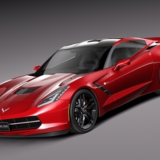 Chevrolet Corvette C7 Stingray Coupe 2014 3D Model