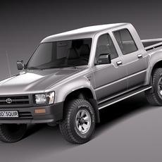 Toyota Hilux Double cab 1989-1997 3D Model