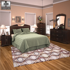 Ashley Julianna Panel Bedroom Set 3D Model