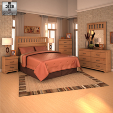 Ashley Bedroom Set 3D Model