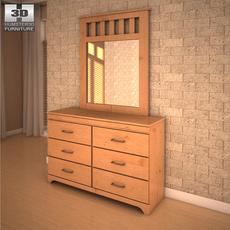 Ashley Dresser & Mirror 3D Model