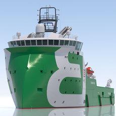 Anchor Handling Tug Supply BOURBON ORCA 3D Model
