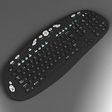 Black keyboard 3D Model
