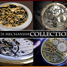 Watch mechanism coll 2 3D Model