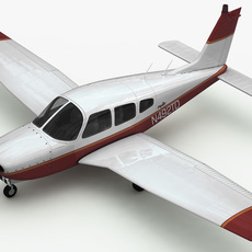 Piper PA-28 Cherokee Arrow 3D Model