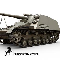 Sd.Kfz 165 Hummel Early version 3D Model