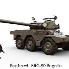 Panhard ERC-90 Sagaie 3D Model