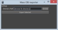Mass OBJ Exporter for Maya 0.1.0 (maya script)