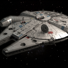 Millenium Falcon Space Ship Star Wars 3D Model