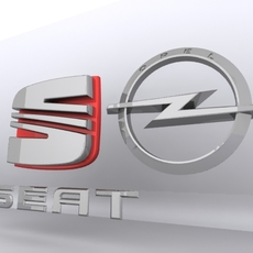 Cars Logo 3D 3D Model