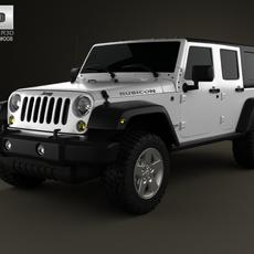 Jeep Wrangler Unlimited 2013 3D Model