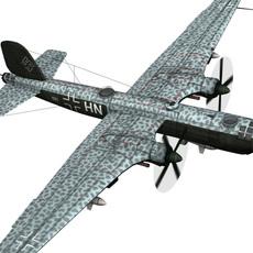Heinkel He-177 A-5 - Greif - 5./KG 100 3D Model