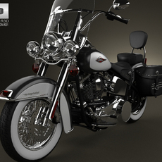 Harley-Davidson Heritage Softail Classic 2012 3D Model