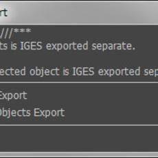 ky_manyIgesExport for Maya 1.0.1 (maya script)