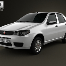 Fiat Palio Fire Economy 2012 3D Model