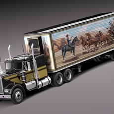 Kenworth W900 1974 Smokey And The Bandit 3D Model