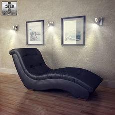 Metro Chaise Lounge - Diamond Sofa 3D Model