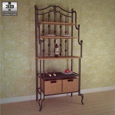 Saint Pierre Bakers Rack - Southern Enterprises 3D Model