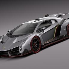 Lamborghini Veneo 2014 3D Model