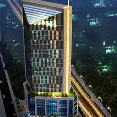 3D Models skycraper Building day and night 3D Model