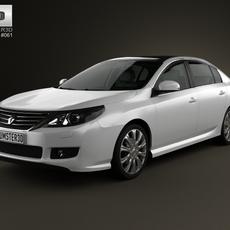 Renault Latitude with HQ interior 2013 3D Model