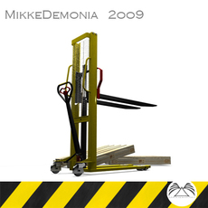 Manual Forklift HMS 1.0 3D Model