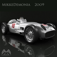 Mercedes - Benz w196 Monoposto 3D Model