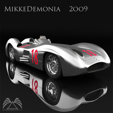 Mercedes - Benz w196 Streamliner 3D Model
