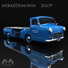 Mercedes-Benz Renntransporter 3D Model