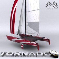 Catamaran Tornado 3D Model