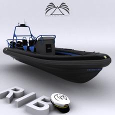 Rigid Inflatable Boat CZ7 3D Model