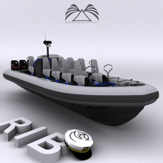 Rigid Inflatable Boat 02 3D Model