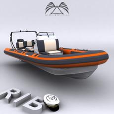 Rigid Inflatable Boat 03 3D Model