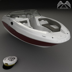 Sea Ray 240 Sundeck 3D Model