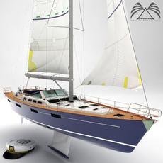 Beneteau 57 Sailing Yacht 3D Model