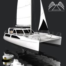 Seawind 1160 Catamaran 3D Model