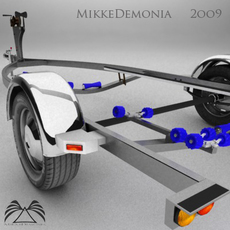 Boat Trailer 01 3D Model