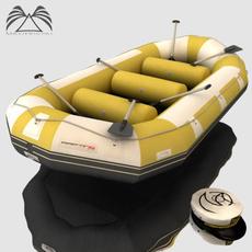 River Rafting Boat 3D Model