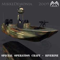 Special Operation Craft - Riverine 3D Model