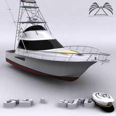 52 sport fishing boat 3D Model