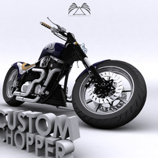 Custom Chopper 05 3D Model