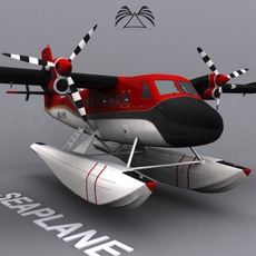 Seaplane 02 3D Model