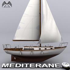 Sailboat Mediteranea 34 3D Model