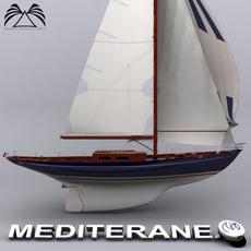 Sailboat Mediteranea 56 3D Model