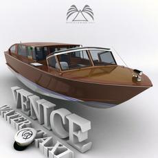 Venice Water Taxi Boat Classic 3D Model
